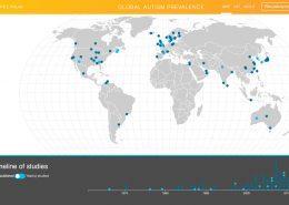 mapa mundial de prevalência de autismo - Tismoo