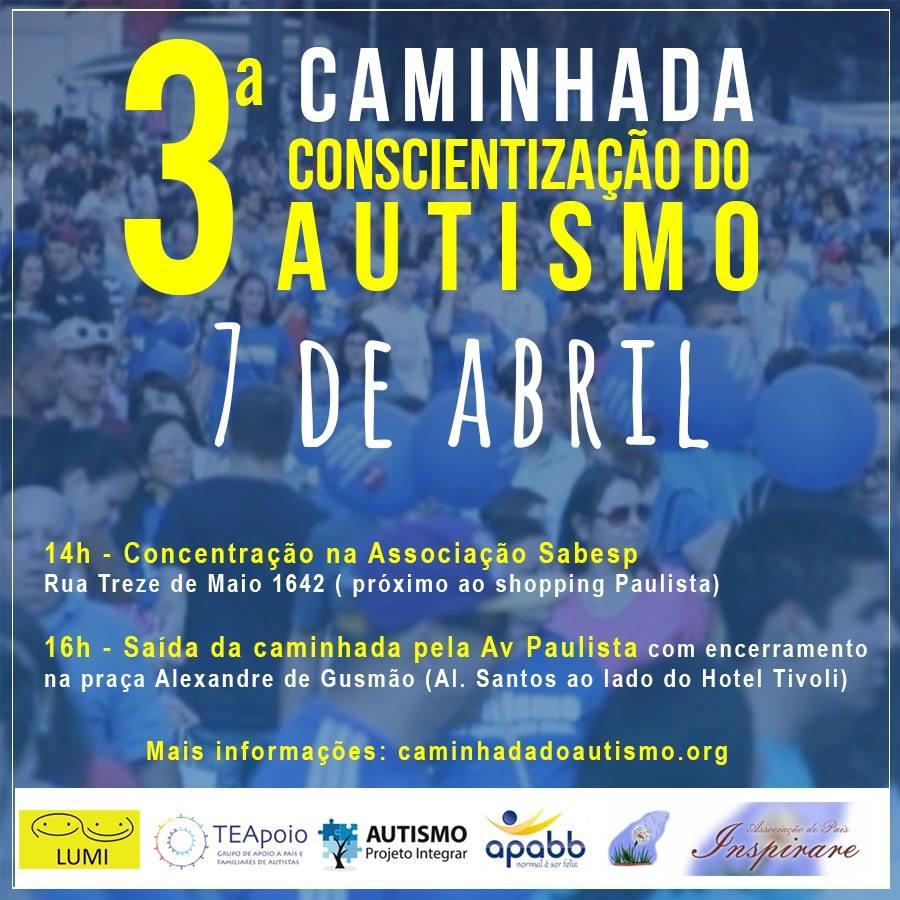 3ª caminha de conscientização do autismo em SP - Tismoo