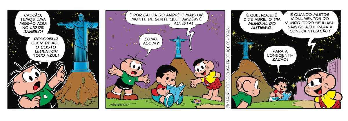 Personagens infantis com autismo — André, Turma da Mônica — Tismoo