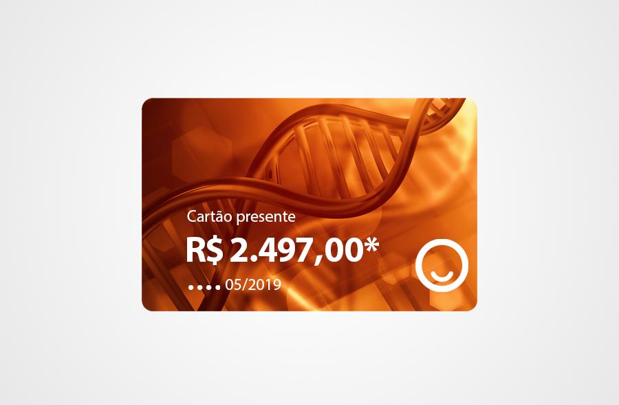 Cartão presente com crédito da Promoção Semana do Genoma 2019 — Tismoo