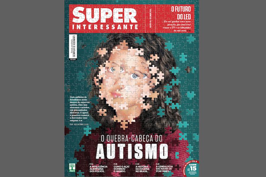 Genética do autismo na capa da Superinteressante — Tismoo