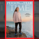 Capa da revista Time de dezembro de 2019, com Greta Thunberg - Tismoo