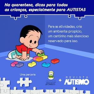 Na quarentena, Instituto Mauricio de Sousa e Revista Autismo dão dicas diárias para autistas