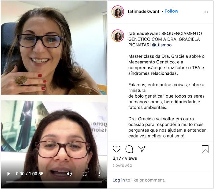 Importância da genética para o autismo é tema de live de Fátima de Kwant — Tismoo