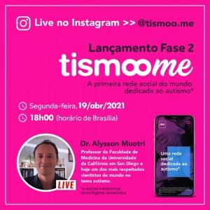 Live de lançamento da FASE 2 da Tismoo.me